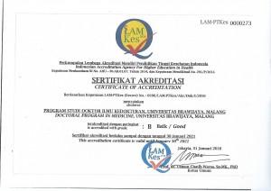 Sertifikat akreditasi PSDIK FKUB